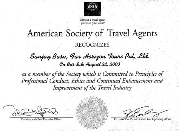 American Society of Travel Agents 2003