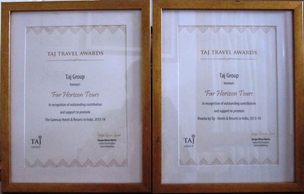 Taj Travel Award 2013-14