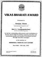 Vikas Bharti Award 1997