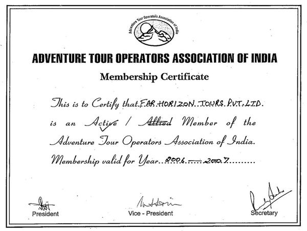 Adventure Tour Operators Association 2006-07