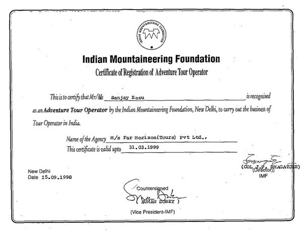 Indian Mountaineering Federation 1999